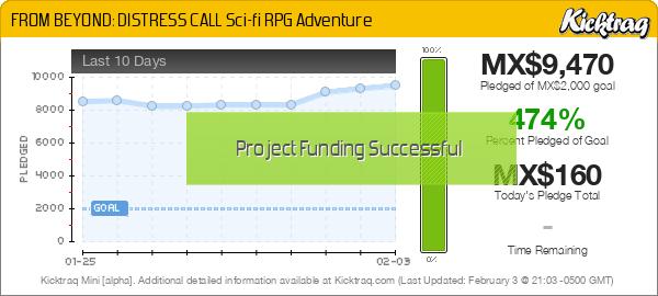 FROM BEYOND: DISTRESS CALL Sci-fi RPG Adventure -- Kicktraq Mini
