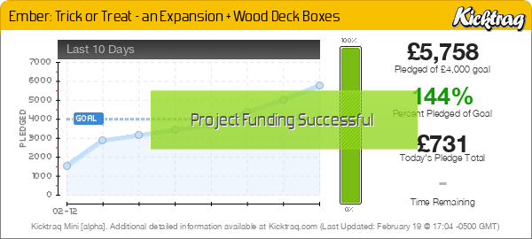 Ember: Trick or Treat – an Expansion + Wood Deck Boxes -- Kicktraq Mini
