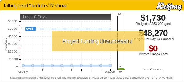 Talking Lead YouTube/TV show -- Kicktraq Mini