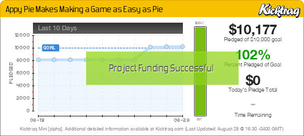 Appy Pie Makes Making a Game as Easy as Pie -- Kicktraq Mini