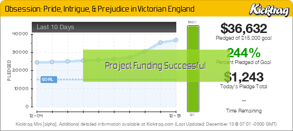 Obsession: Pride, Intrigue, & Prejudice in Victorian England - Kicktraq Mini