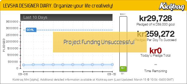 LEVSHA DESIGNER DIARY. Organize your life creatively! -- Kicktraq Mini