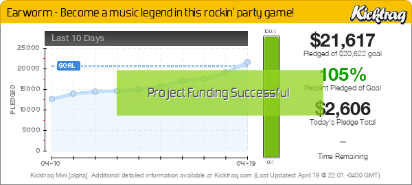 Earworm - Become a music legend in this rockin' party game! - Kicktraq Mini