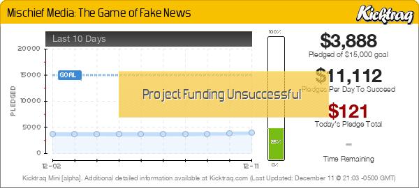 Mischief Media: The Game of Fake News -- Kicktraq Mini