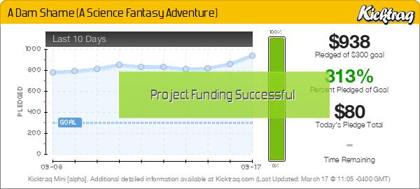 A Dam Shame (A Science Fantasy Adventure) - Kicktraq Mini