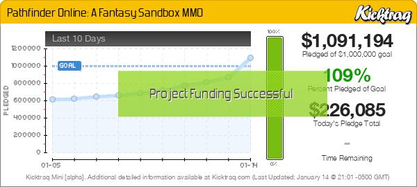 Pathfinder Online: A Fantasy Sandbox MMO -- Kicktraq Mini