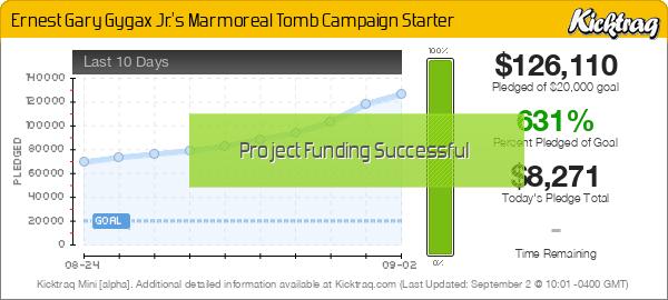 Ernest Gary Gygax Jr.'s Marmoreal Tomb Campaign Starter -- Kicktraq Mini