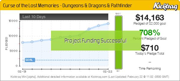 Curse of the Lost Memories - Dungeons & Dragons & Pathfinder - Kicktraq Mini