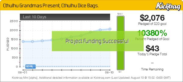 Cthulu Dice Bag - Kicktraq Mini