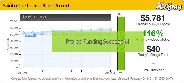 Spirit of the Ronin - Novel Project -- Kicktraq Mini