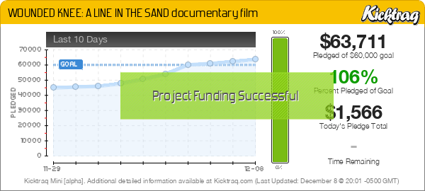WOUNDED KNEE: A LINE IN THE SAND documentary film -- Kicktraq Mini