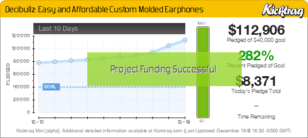 Decibullz: Easy and Affordable Custom Molded Earphones -- Kicktraq Mini