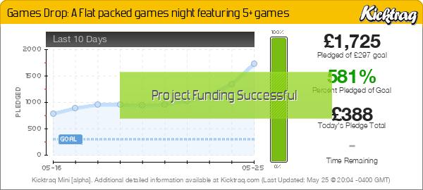 Games Drop: A Flat packed games night featuring 5+ games - Kicktraq Mini