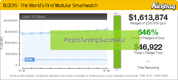 BLOCKS - The World's First Modular Smartwatch -- Kicktraq Mini