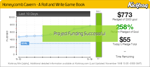 Honeycomb Cavern - A Roll and Write Game Book - Kicktraq Mini