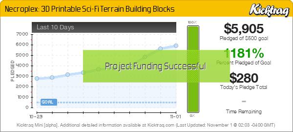 Necroplex: 3D Printable Sci-Fi Terrain Building Blocks - Kicktraq Mini