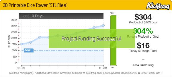 3D Printable Dice Tower (STL Files) - Kicktraq Mini