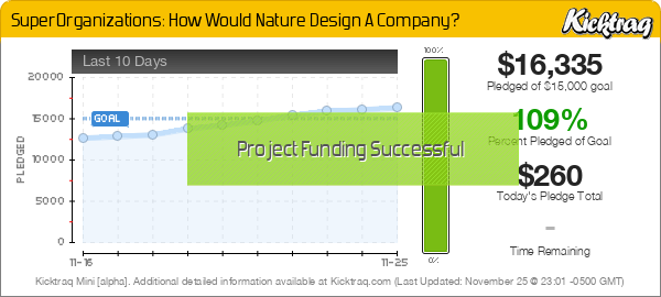 SuperOrganizations: How Would Nature Design A Company? -- Kicktraq Mini