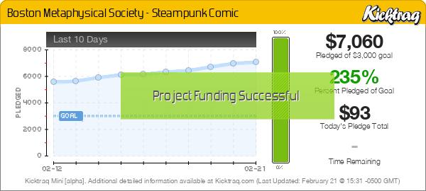 Boston Metaphysical Society - Steampunk Comic -- Kicktraq Mini