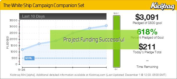 The White Ship Campaign Companion Set -- Kicktraq Mini