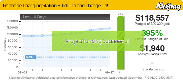 Fishbone Charging Station – Tidy Up and Charge Up! -- Kicktraq Mini