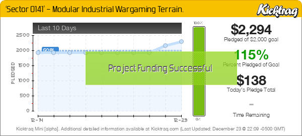 'Sector 0141' – Modular Industrial Wargaming Terrain -- Kicktraq Mini