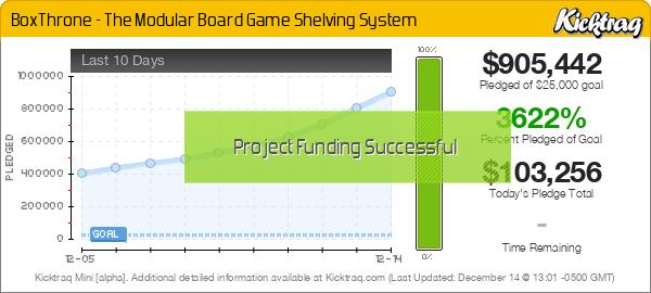 BoxThrone – The Modular Board Game Shelving System -- Kicktraq Mini