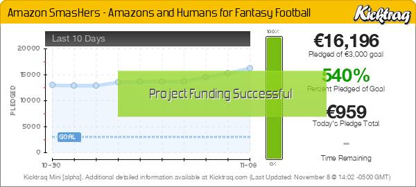 Amazon SmasHers – Amazons and Humans for Fantasy Football -- Kicktraq Mini