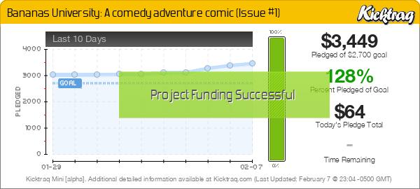 Bananas University: A comedy adventure comic (Issue #1) -- Kicktraq Mini