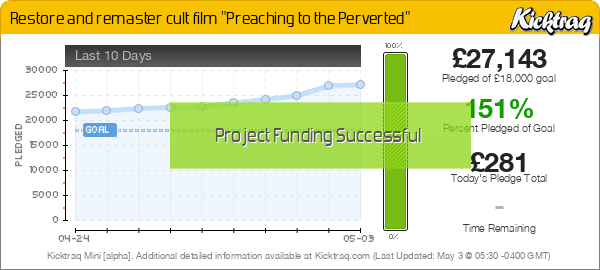 "Restore and remaster cult film ""Preaching to the Perverted"" -- Kicktraq Mini"