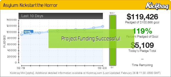 Asylum: Kickstart the Horror -- Kicktraq Mini