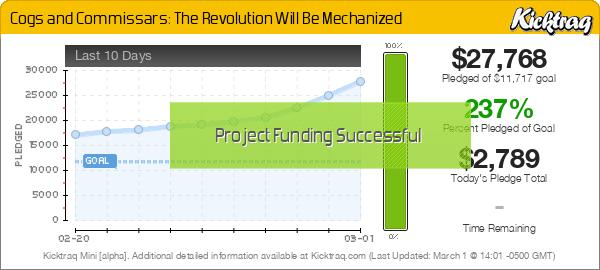 Cogs & Commissars: The Revolution Will Be Mechanized -- Kicktraq Mini