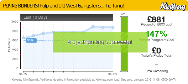 PEKING BLINDERS! Pulp & Old West Gangsters...The Tong! - Kicktraq Mini