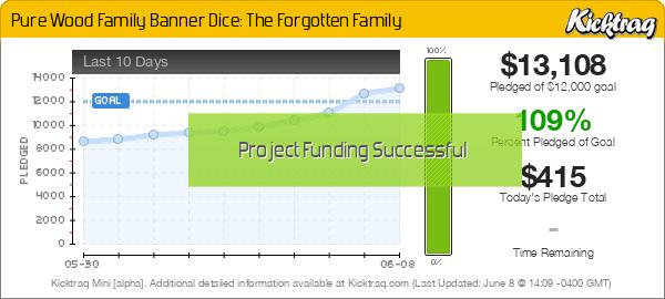 Pure Wood Family Banner Dice: The Forgotten Family - Kicktraq Mini