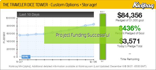 THE TRAVELER DICE TOWER – Custom Options + Storage! -- Kicktraq Mini