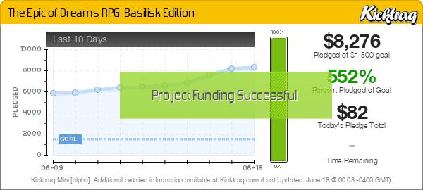 The Epic of Dreams RPG: Basilisk Edition - Kicktraq Mini