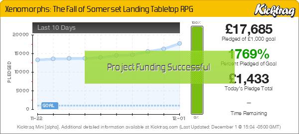 Xenomorphs: The Fall of Somerset Landing Tabletop RPG -- Kicktraq Mini