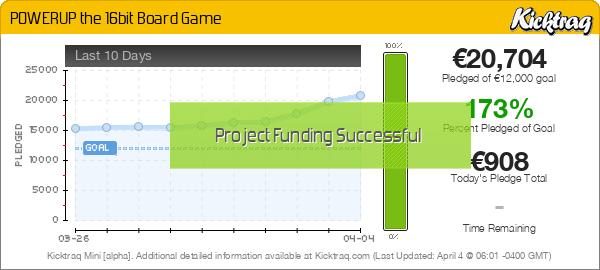POWERUP The 16bit Board Game - Kicktraq Mini