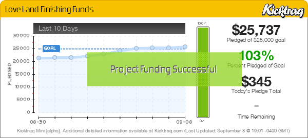 Love Land Finishing Funds -- Kicktraq Mini