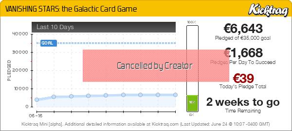 VANISHING STARS: The Galactic Card Game - Kicktraq Mini