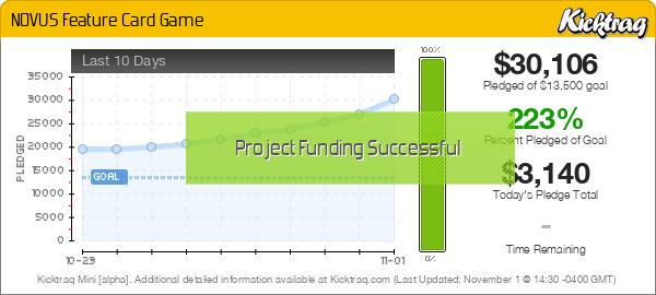 NOVUS Feature Card Game -- Kicktraq Mini