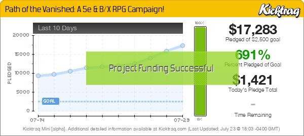 Path of the Vanished: A 5e & B/X RPG Campaign! - Kicktraq Mini