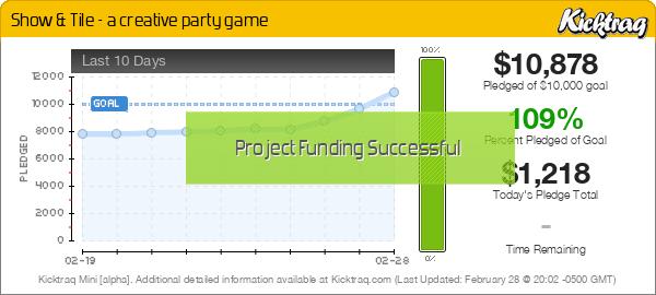 Show & Tile – A Creative Party Game -- Kicktraq Mini