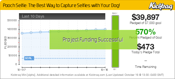 Pooch Selfie: The Best Way to Capture Selfies with Your Dog! -- Kicktraq Mini