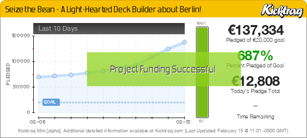 Seize the Bean - A Light-Hearted Deck Builder About Berlin! - Kicktraq Mini