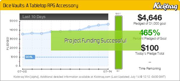 Dice Vaults: A Tabletop RPG Accessory - Kicktraq Mini
