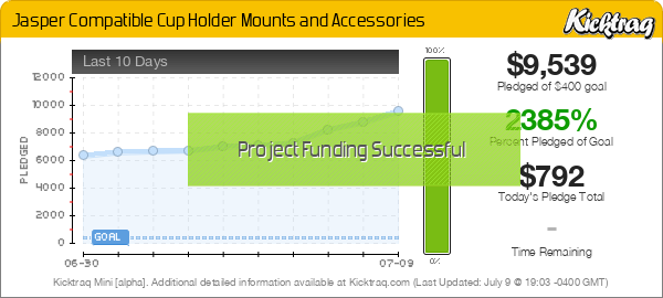 Jasper Compatible Cup Holder Mounts and Accessories - Kicktraq Mini