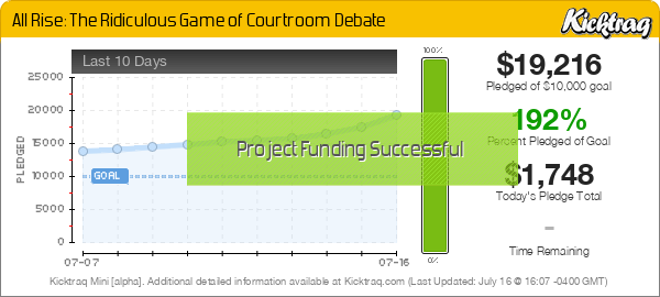 All Rise: The Ridiculous Game of Courtroom Debate - Kicktraq Mini