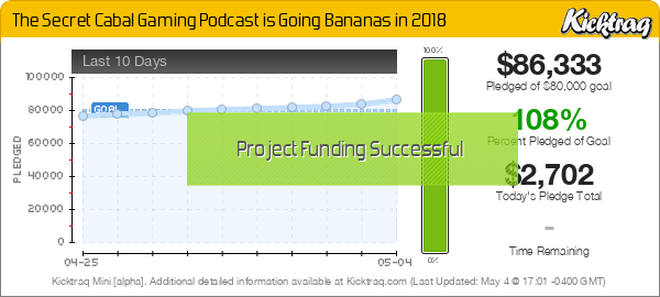 The Secret Cabal Gaming Podcast is Going Bananas in 2018 -- Kicktraq Mini