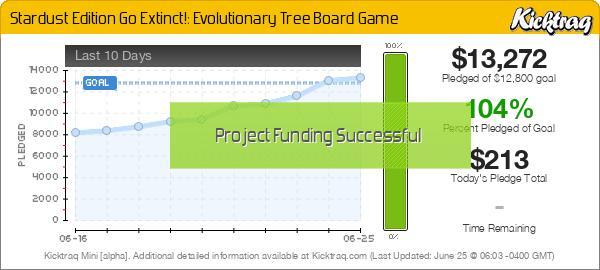 Stardust Edition Go Extinct!: Evolutionary Tree Board Game - Kicktraq Mini